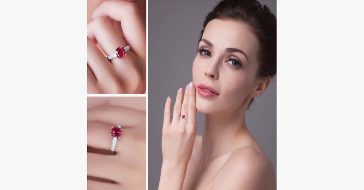Garnet Love Promise Ring