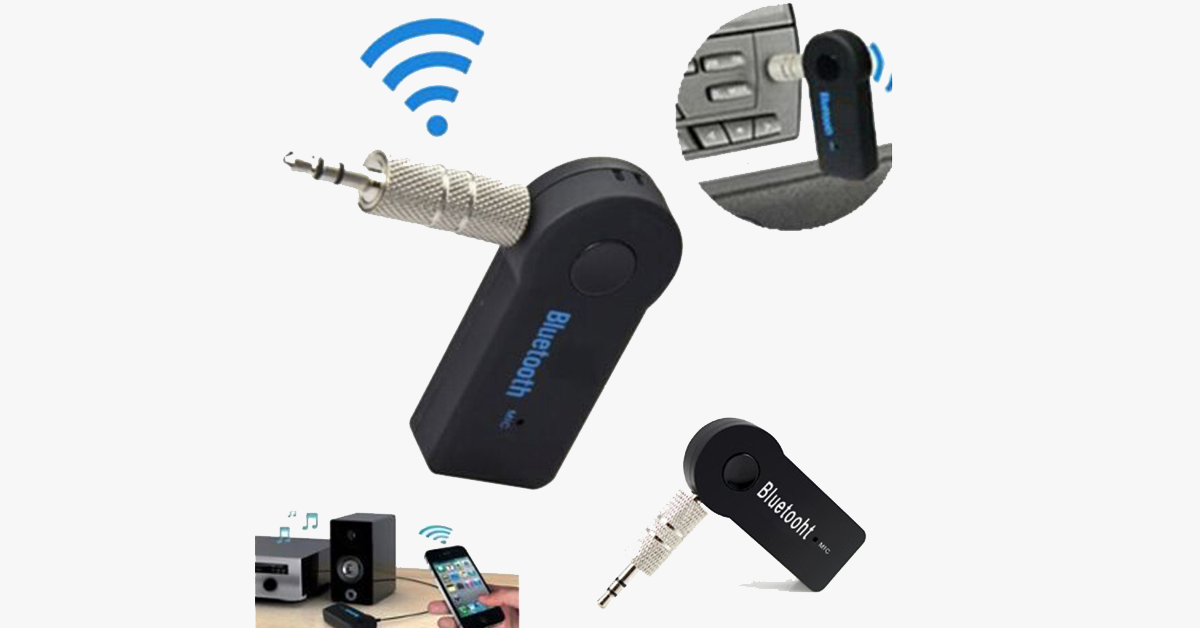 Handfree Car Bluetooth Music Receiver - FREE SHIP DEALS
