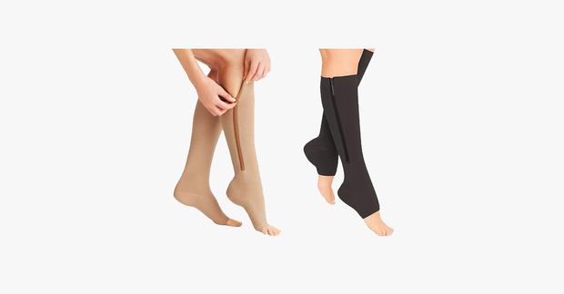 Unisex Open Toe Zipper Compression Socks - FREE SHIP DEALS