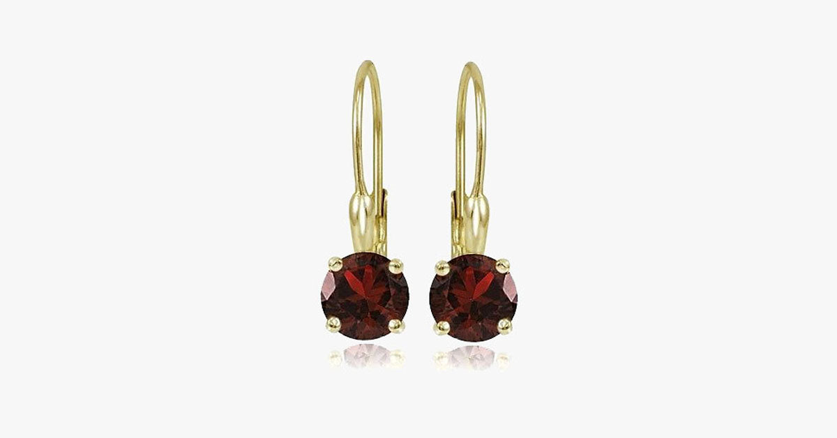 Gemstone Leverback Earring
