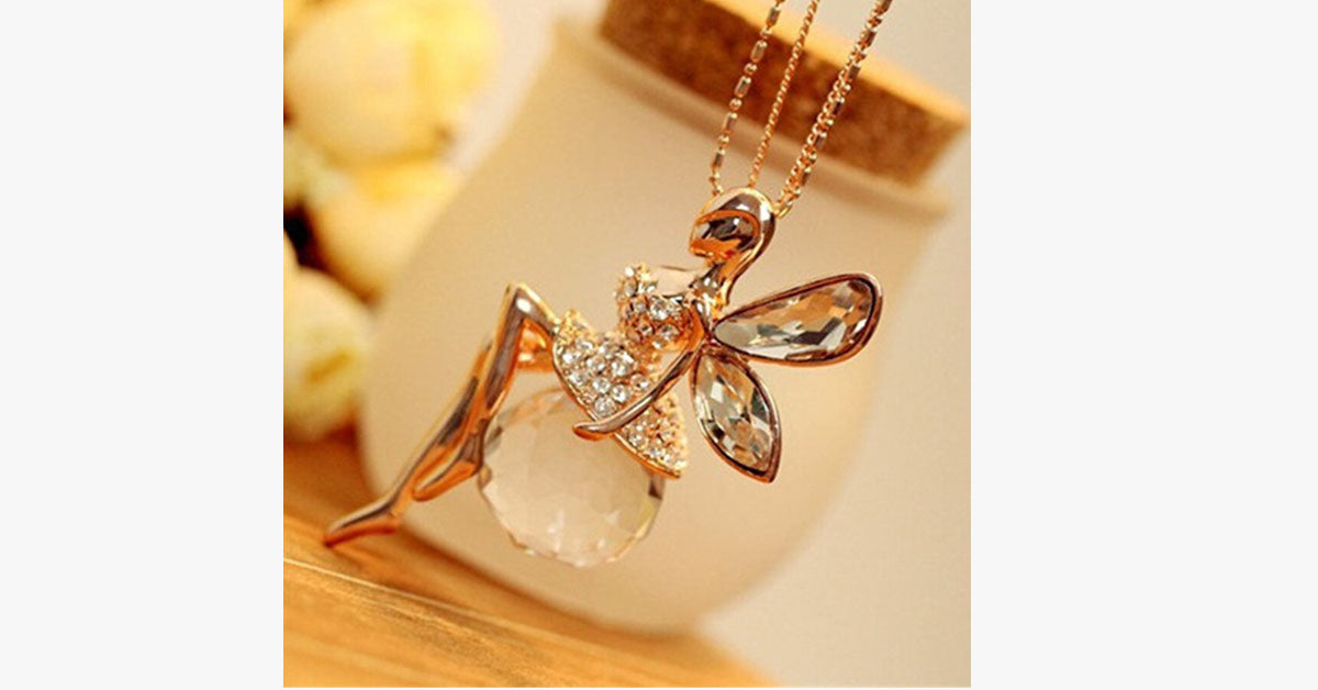 Angel Wing Fairy Necklace - FREE SHIP DEALS