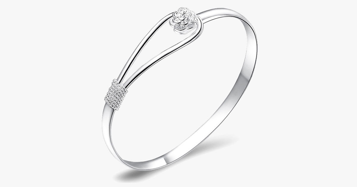 Crystal Rose Bangle - FREE SHIP DEALS