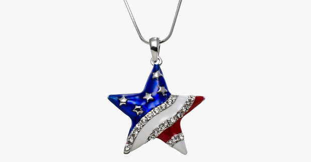 USA Star Shaped Pendant - FREE SHIP DEALS