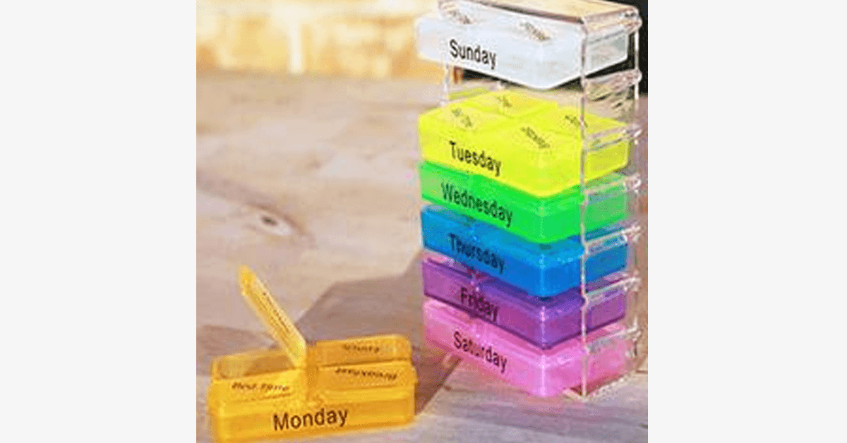 Weekly Pop-Up Pill Organizer - FREE SHIP DEALS