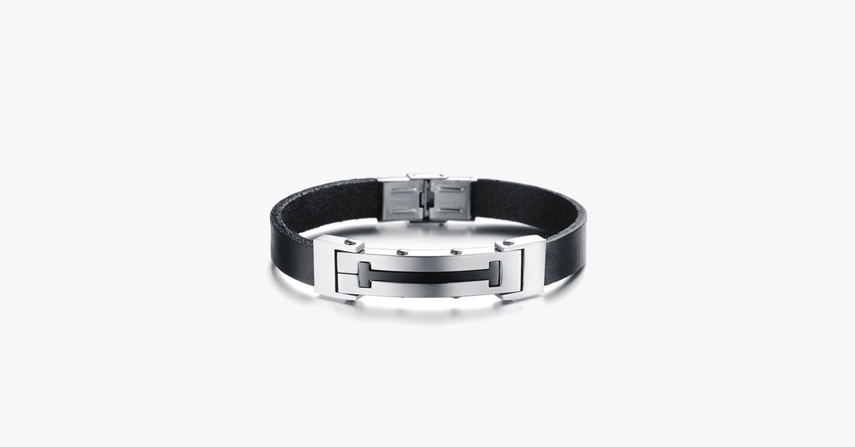 Cross T Men's Stainless Steel Bracelet - FREE SHIP DEALS