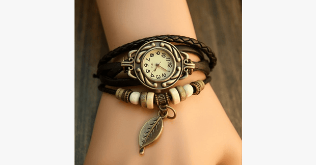 Leaf Vintage Wrap Watch - FREE SHIP DEALS