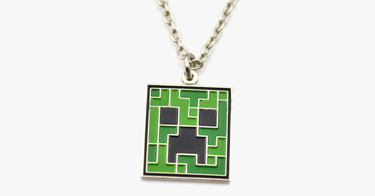 Minecraft Inspired Creeper Pendant - FREE SHIP DEALS