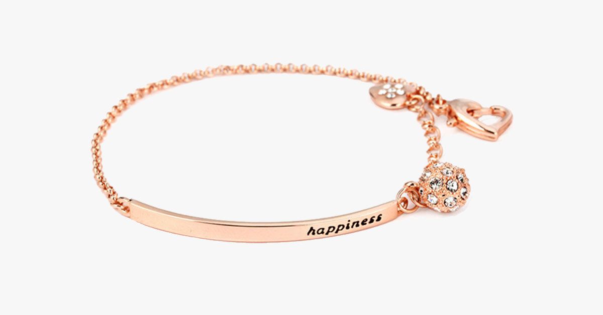 Rose Gold Happiness Bracelet