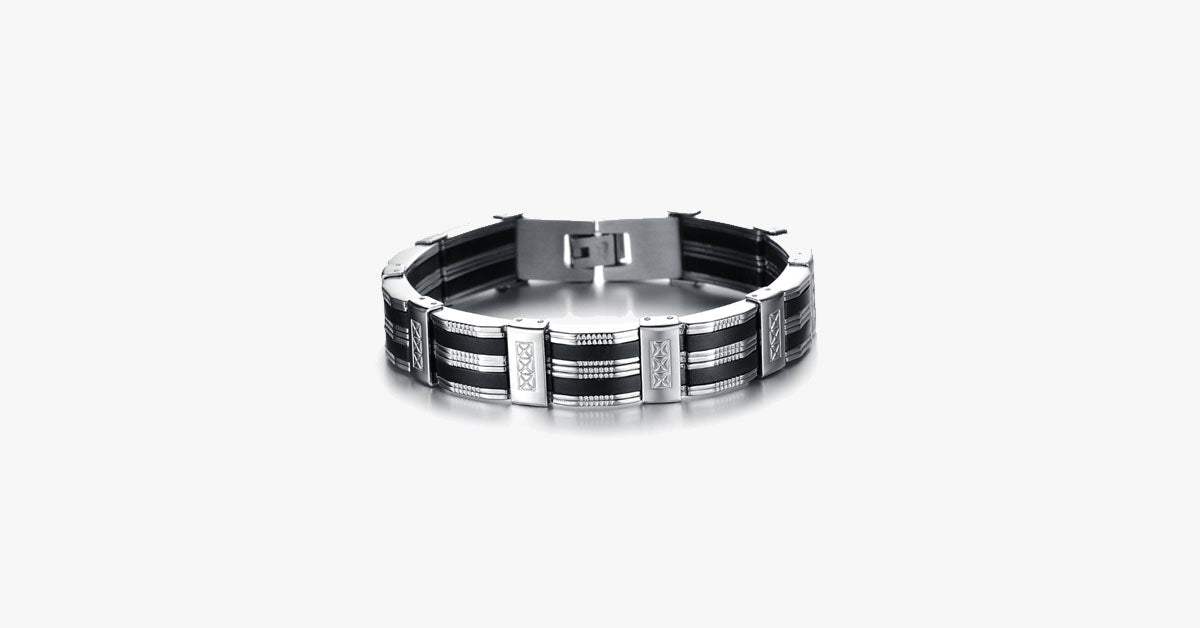 Chain Cuff Stainless Steel Men's Bracelet - FREE SHIP DEALS