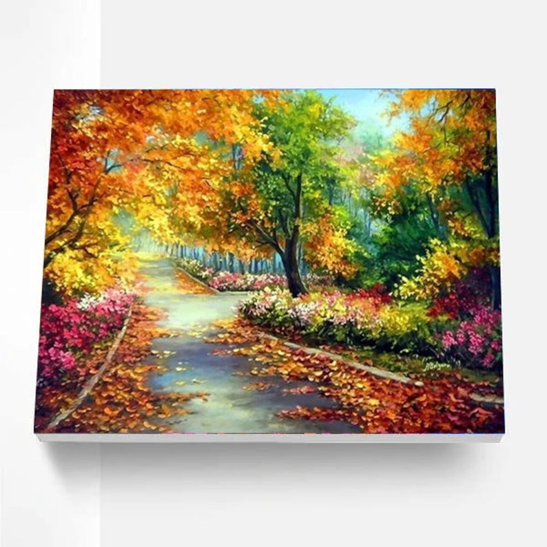 Paint By Numbers Kit - Autumn Roads