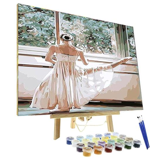 Paint By Numbers Kit - White Ballet Lady