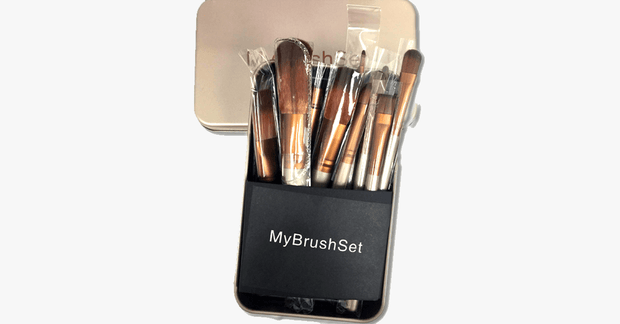 12 Piece Bare Bronze Brush Set - FREE SHIP DEALS