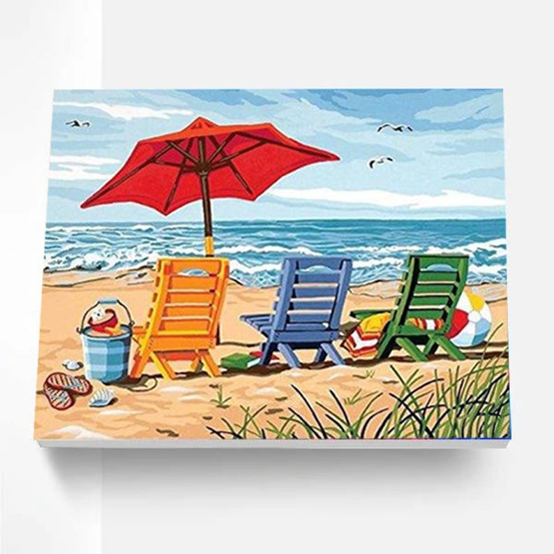 Paint By Numbers Kit - Beach Chair