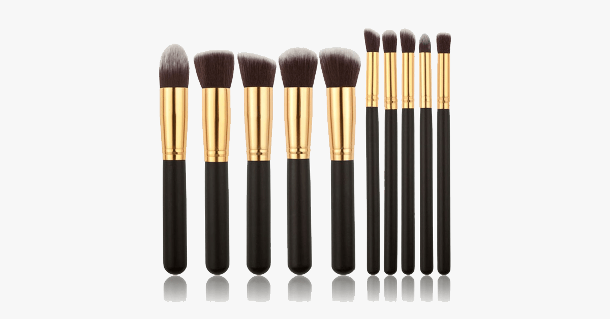 10 Piece Kabuki Brush Set - FREE SHIP DEALS