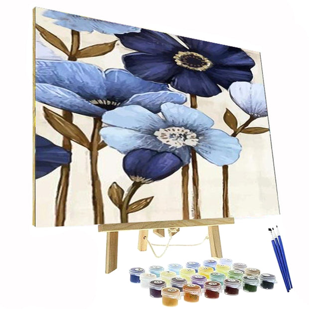Paint By Numbers Kit - Blue Velvet Flowers