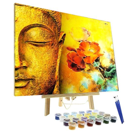 Paint By Numbers Kit - Golden Buddha