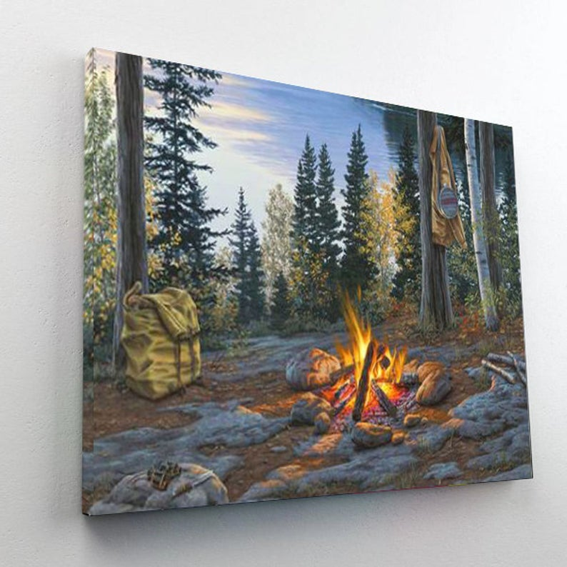 Paint By Numbers Kit - Campfire
