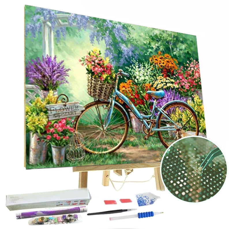 Paint By Diamonds Kit - Bicycle & Flowers 5D