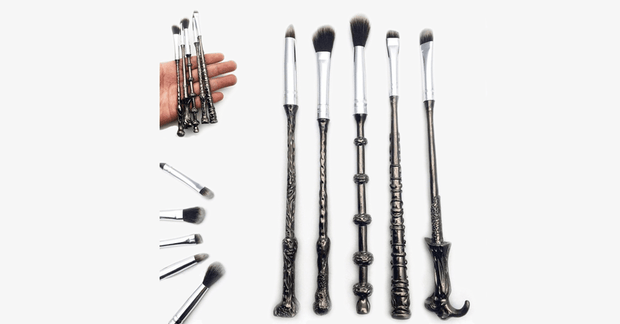 5 Piece Harry Potter Inspired Magic Wands Makeup Brush Set - FREE SHIP DEALS