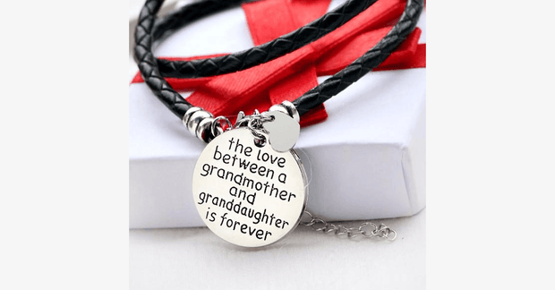 The Love Between A Grandmother and Granddaughter is Forever - Hand Stamped Bracelet