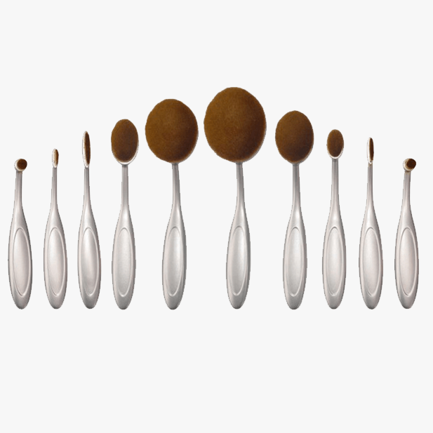 Aphrodite 10 Piece Oval Brush Set - FREE SHIP DEALS