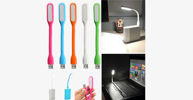 Portable LED USB Flashlight - Assorted Colors