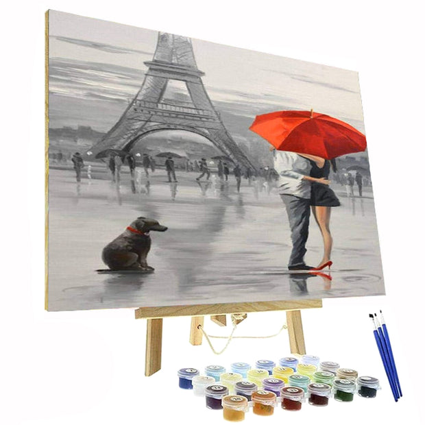 Paint By Numbers Kit - Red Love in Paris