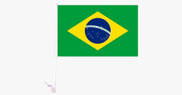 Brazil Flag Car Window Pole Decoration - FREE SHIP DEALS