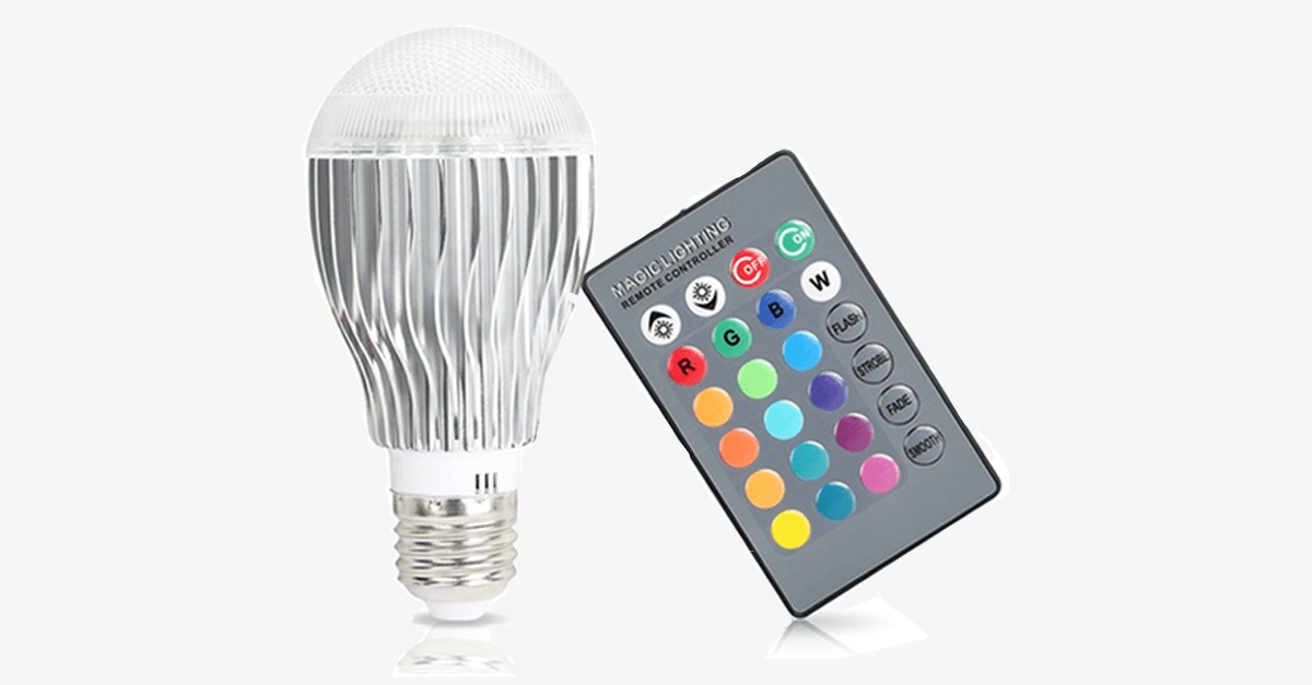 Magic Color Changing Led Light Bulb With Remote Control Free Ship