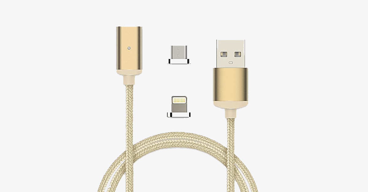 2.4A High Speed Charging Magnetic Cable for iPhone & Android Devices - FREE SHIP DEALS