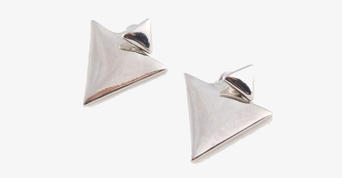Double Triangle Stud Earring - FREE SHIP DEALS