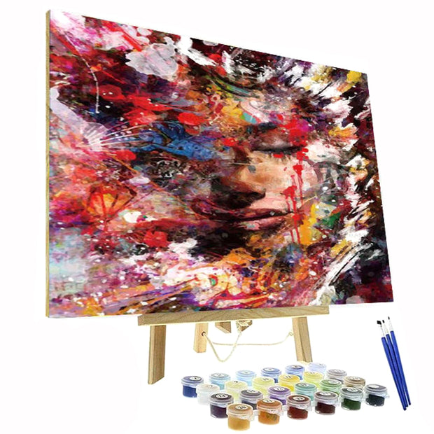 Paint By Numbers Kit - Abstract & Colorful