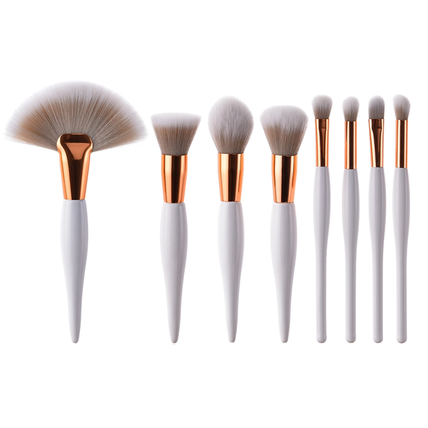8 Piece All Day Glam Makeup Brush Set