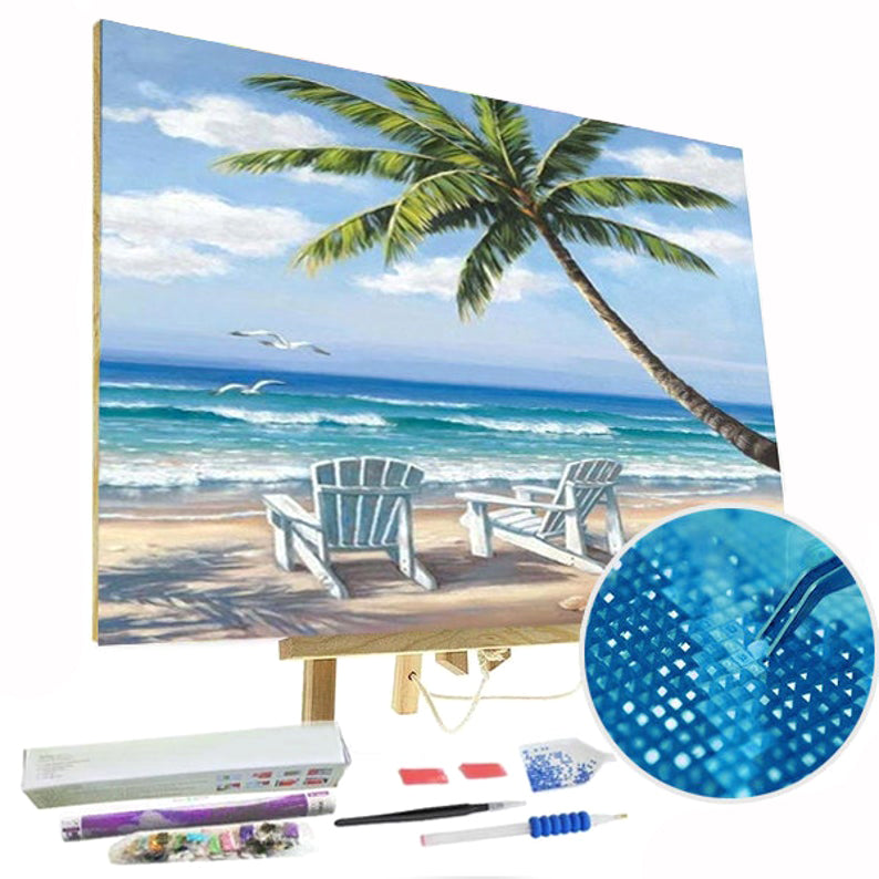 Paint By Diamonds Kit - Sandy Beach 5D