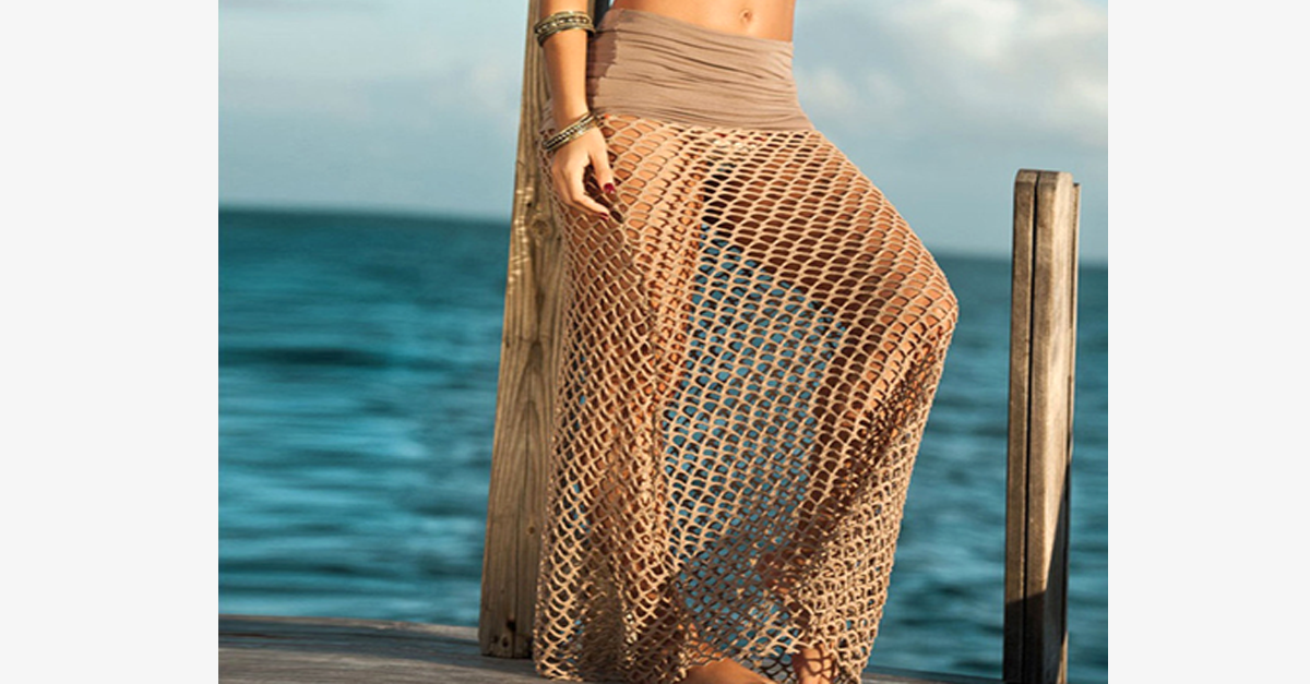 Bohemian Hollow Out Mesh Maxi Skirt - FREE SHIP DEALS