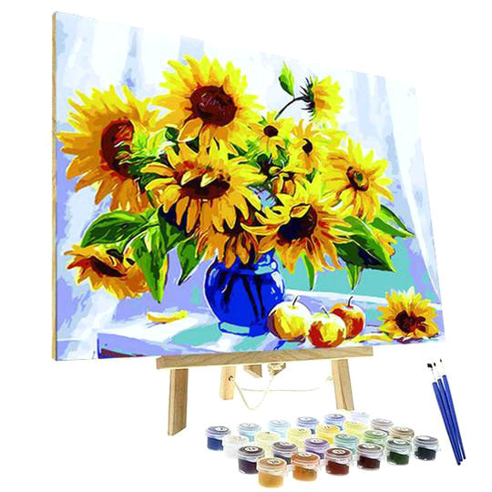 Paint By Numbers Kit - Blue Vase with Sunflowers