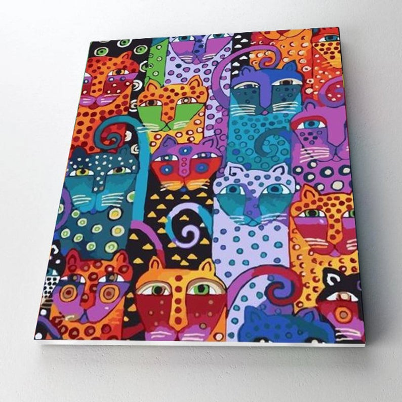 Paint By Numbers Kit - Cats & Dots