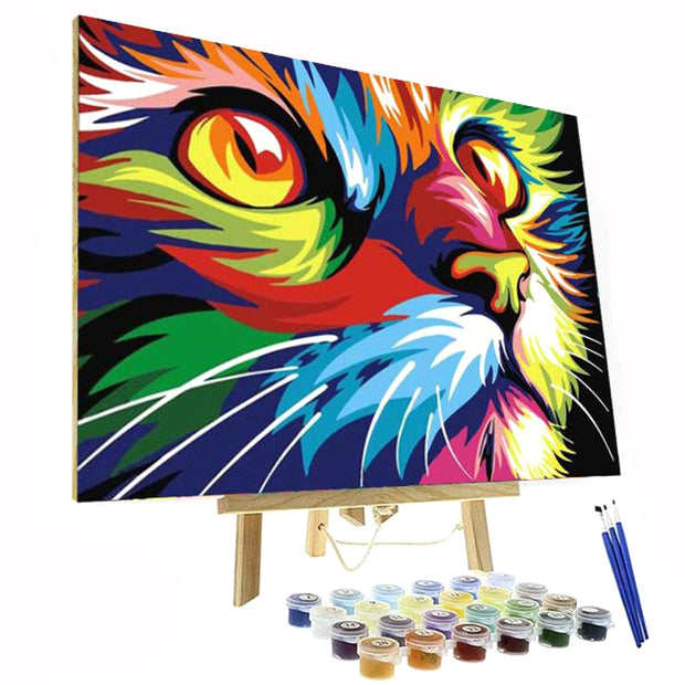 Paint By Numbers Kit - Colorful Cat