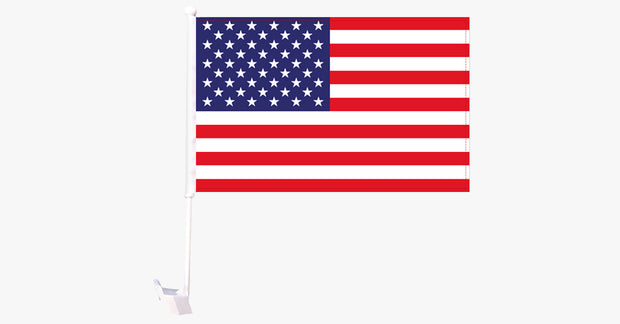 USA Flag Car Window Pole Decoration - FREE SHIP DEALS