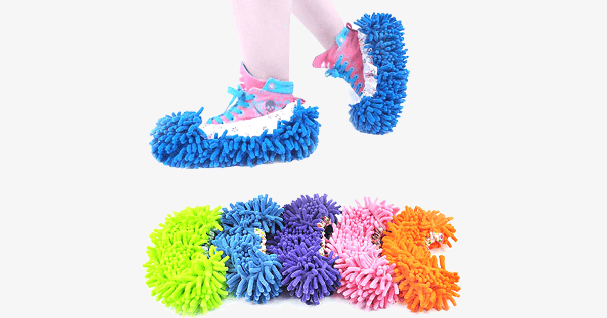 Microfiber Mop Cleaning Slippers - Cleaning made fun