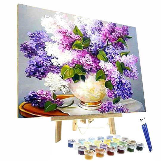 Paint By Numbers Kit - Purple Lavender Flowers