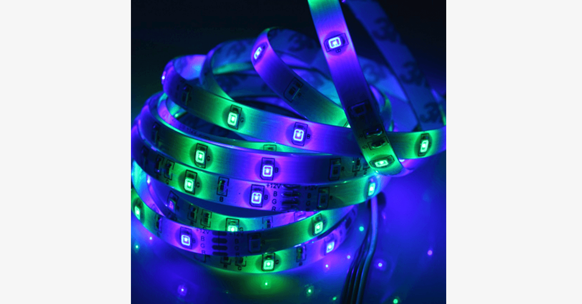 16 Feet 300 LED Waterproof Light Strip With IR Remote Control - FREE SHIP DEALS