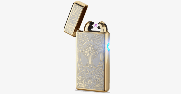 Gold Cross Rechargeable Windproof Lighter - FREE SHIP DEALS