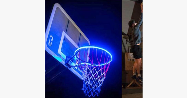 LED Strip Basketball Hoop