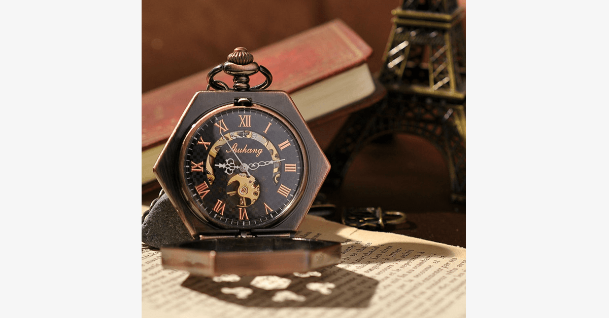 Hexlock Mechanical Pocket Watch - FREE SHIP DEALS