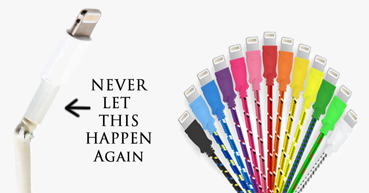 Braided Lightning Cable For iPhone & Android