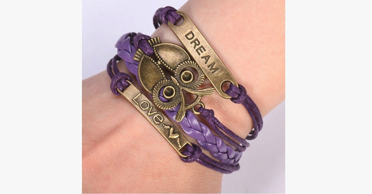 Dream Owl Love Bracelet - FREE SHIP DEALS
