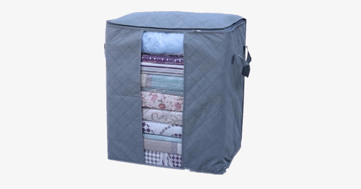Natural Bamboo Fiber Storage Bag & Laundry Basket - FREE SHIP DEALS
