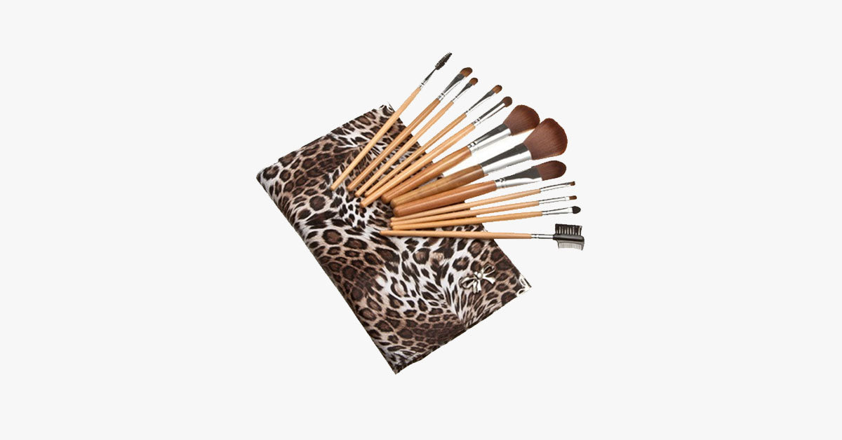 12 Piece Leopard Skin - Flat Case - FREE SHIP DEALS