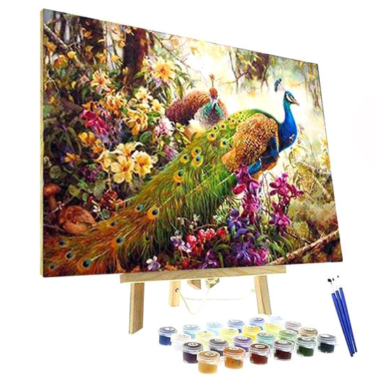 Paint By Numbers Kit - Peacock